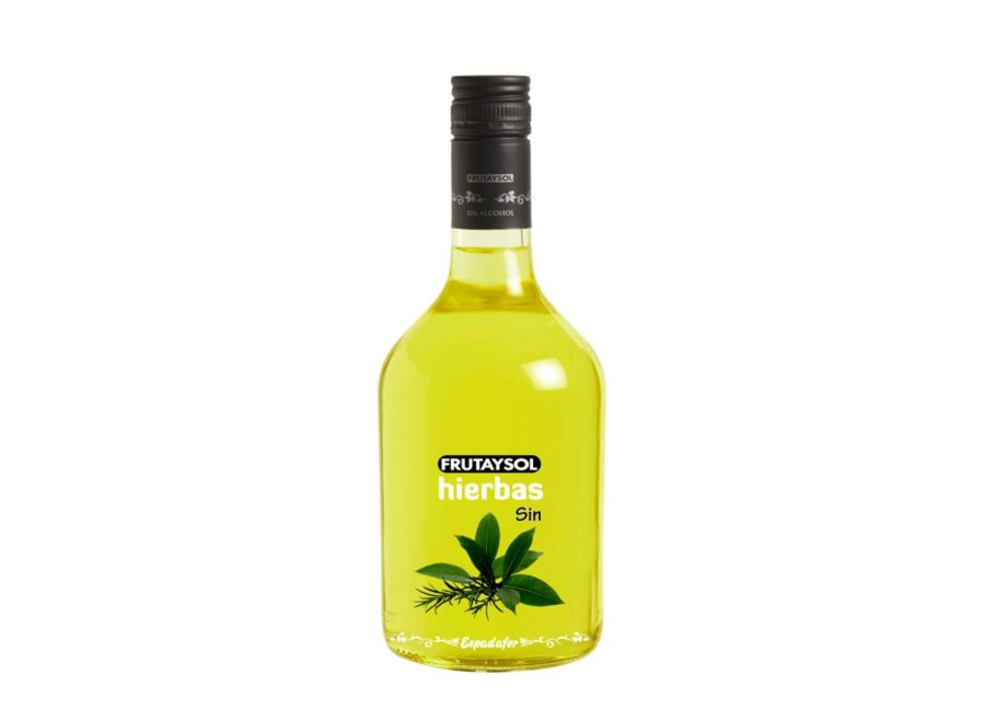 Botella de 70cl de Frutaysol Hierbas, bebida inspirada licor de hierbas sin alcohol