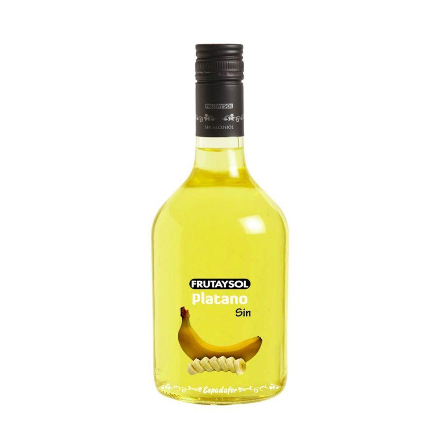 Botella de 70cl de bebida inspirada en licor de plátano sin alcohol Frutaysol