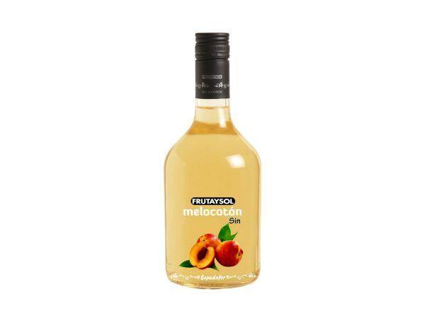 Botella de 70cl de licor de melocotón sin alcohol Frutaysol