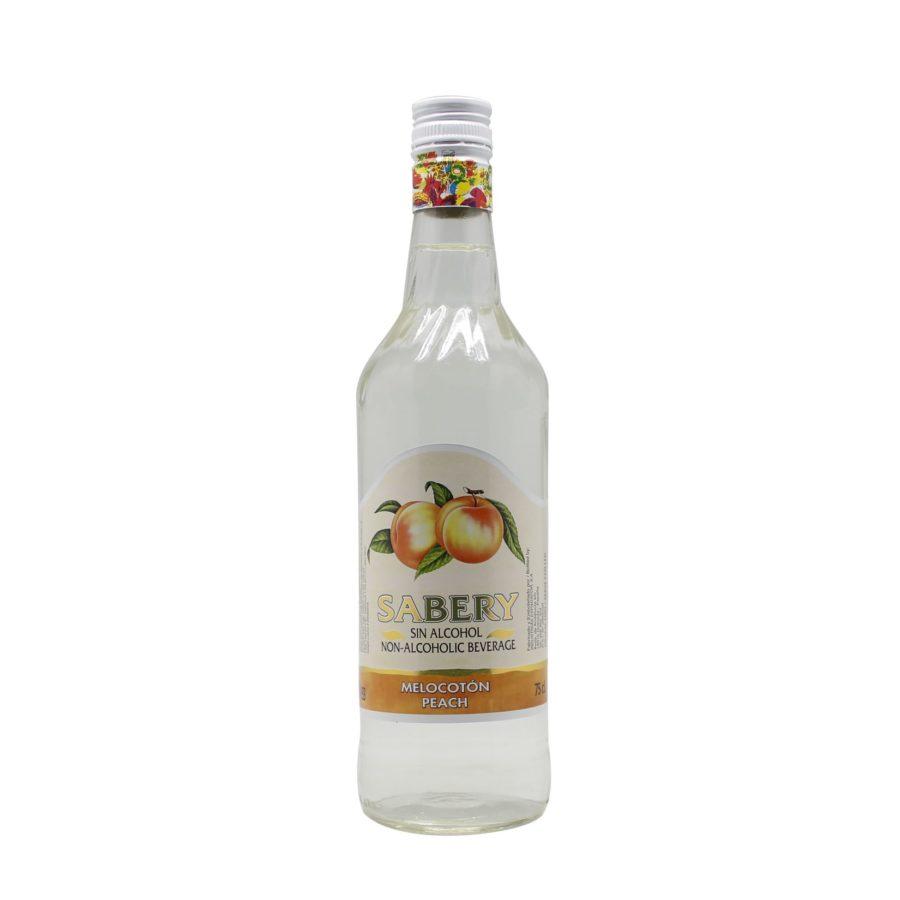 Botella de 750ml de Sabery Melocotón, aperitivo sin alcohol al mejor precio.