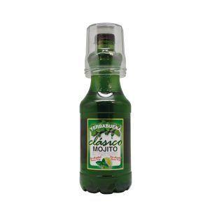 Bebida de Mojito sin alcohol sabor clásico disponible en botella de 1,5 litros con vaso incluido, fabricado por Industrias Espadafor S.A. en Granada, listo para comprar.
