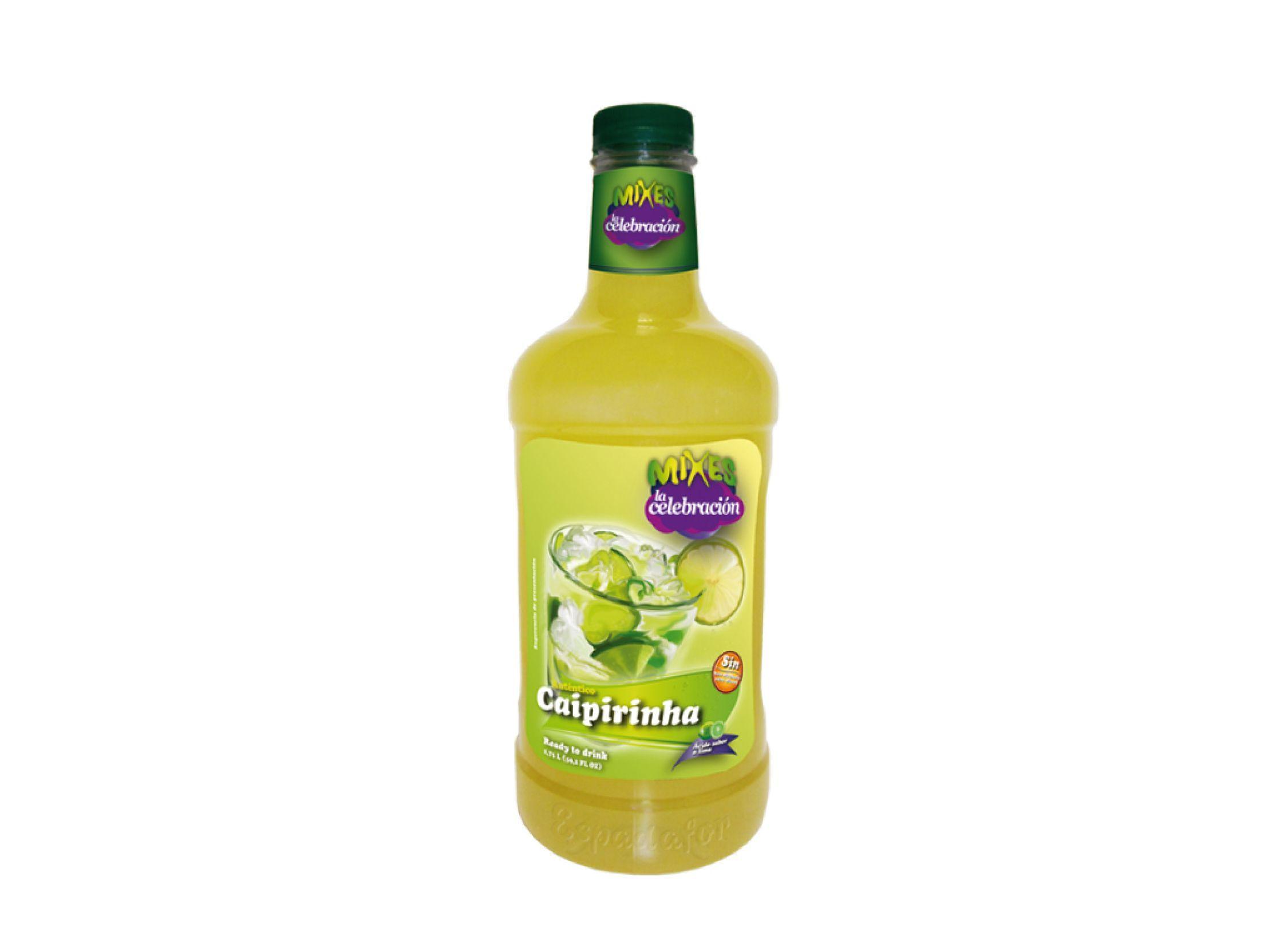 Botella de 1,75 de coctel preparado de Caipiriña sin alcohol