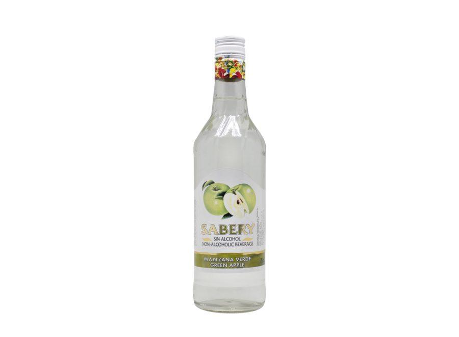 Botella de 75cl de Sabery Manzana, un aperitivo sin alcohol al mejor precio. Producto fabricado en Granada, España. En stock listo para enviar.
