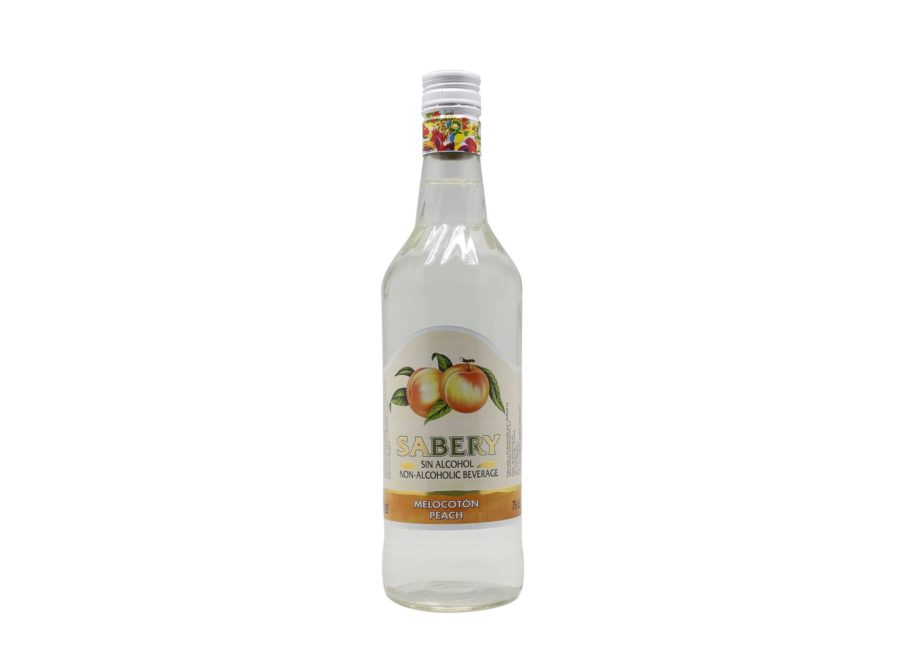 750ml bottle of Sabery Melocotón, alcohol-free aperitif at the best price.