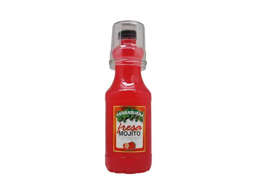 Bebida de Mojito de Fresa sin alcohol producido por Industrias Espadafor, disponible en formato PET de 1,5litros + vaso listo para comprar