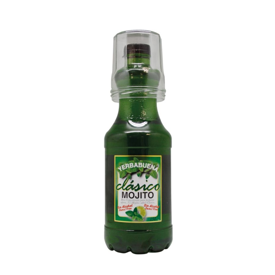 Non-alcoholic Mojito drink produced by Industrias Espadafor, available in 1.5 litre format + glass included, ready to buy