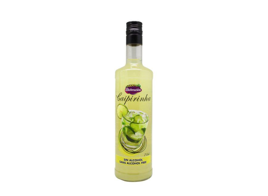 Bebida de Caipirinha sin alcohol en botella de 70cl. Cocktail sin alcohol marca La Celebración