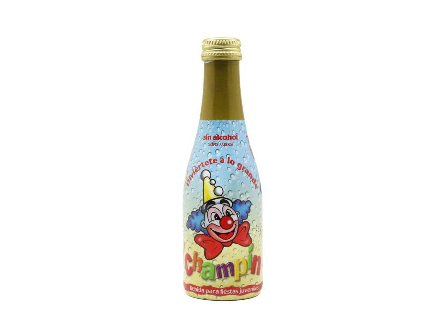 Botellín de 20cl de Champín Benjamín formato pequeño de la botella clásica de 75cl, especialmente pensado para los más pequeños de la fiesta. Perfecto para volver a ser cerrado gracias a tu tapón de rosca.