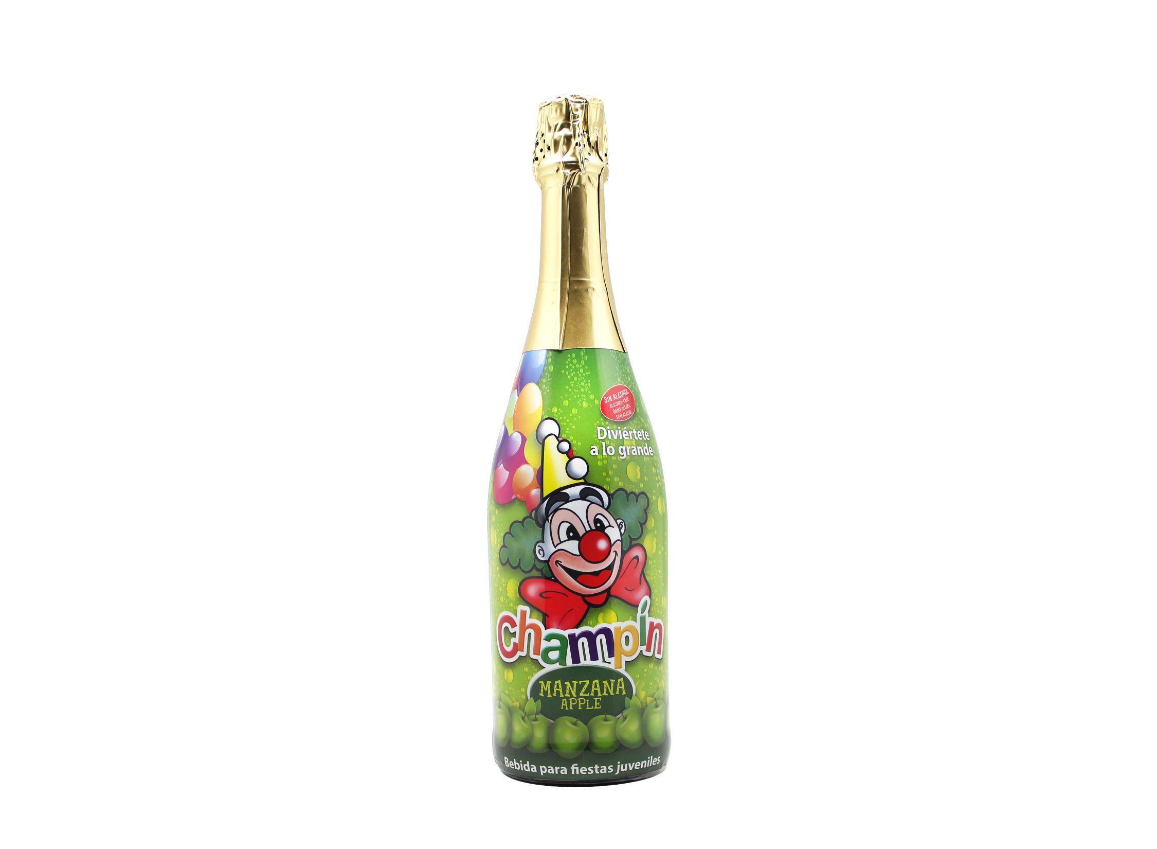 Botella de 75cl de Champín Manzana, como el champín de siempre pero ahora en sabor manzana