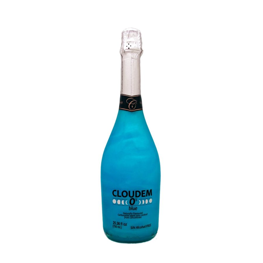 750ml bottle of apple-flavoured alcohol-free sparkling wine with cloud or fire effect, shake it and discover the incredible iridescent movement. Product manufactured by Industrias Espadafor