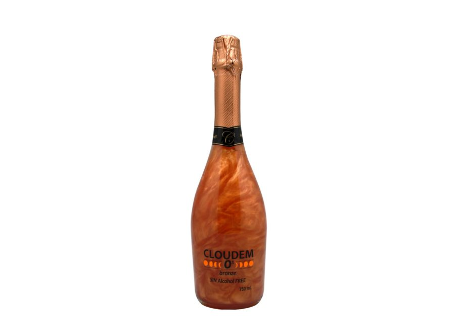 75cl bottle of Cloudem Bronze non-alcoholic sparkling wine Product with an iridescent effect when shaken, ideal for surprising those special evenings. Made by Industrias Espadafor