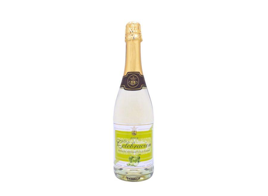 Botella de 75cl de Espumoso de Manzana Sin Alcohol marca Le Celebración producido por industrias Espadafor en Granada, España. Disponible para comprar online, en stock listo para envío.