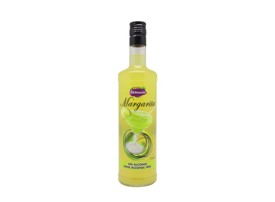 cóctel margarita sin alcohol preparado en botella listo para tomar