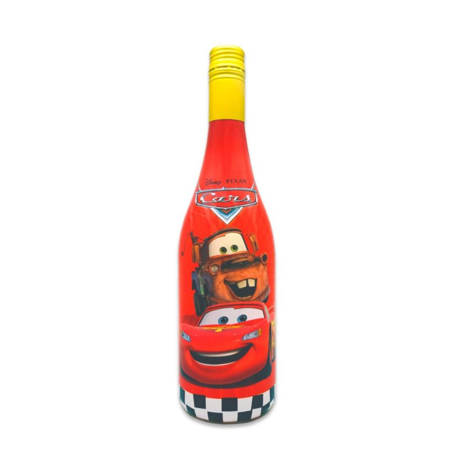 Non-alcoholic sparkling beverage themed Cars the Disney animated film