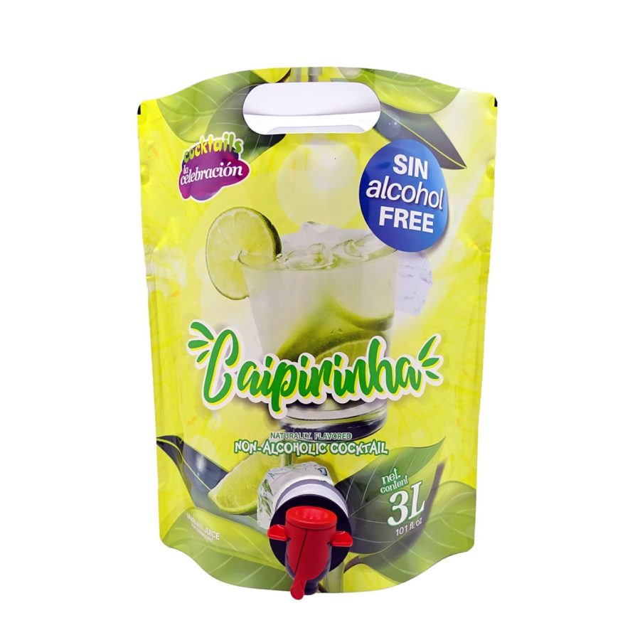 Bolsa de 3 litros con grifo del cocktail caipirinha sin alcohol