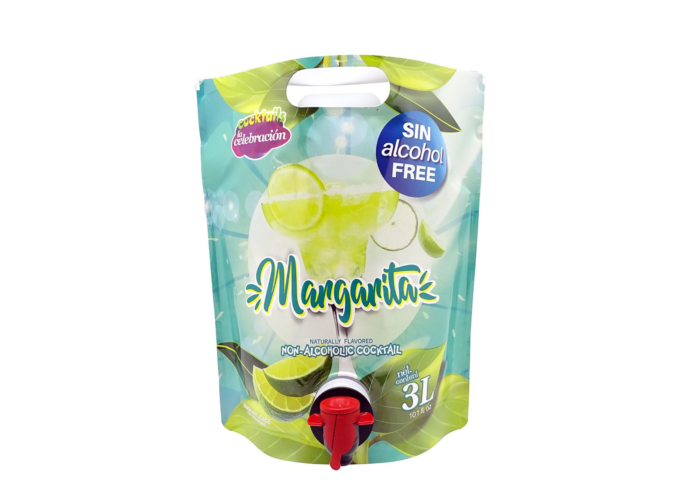 non-alcoholic Margarita in 3-litre bag format with tap.