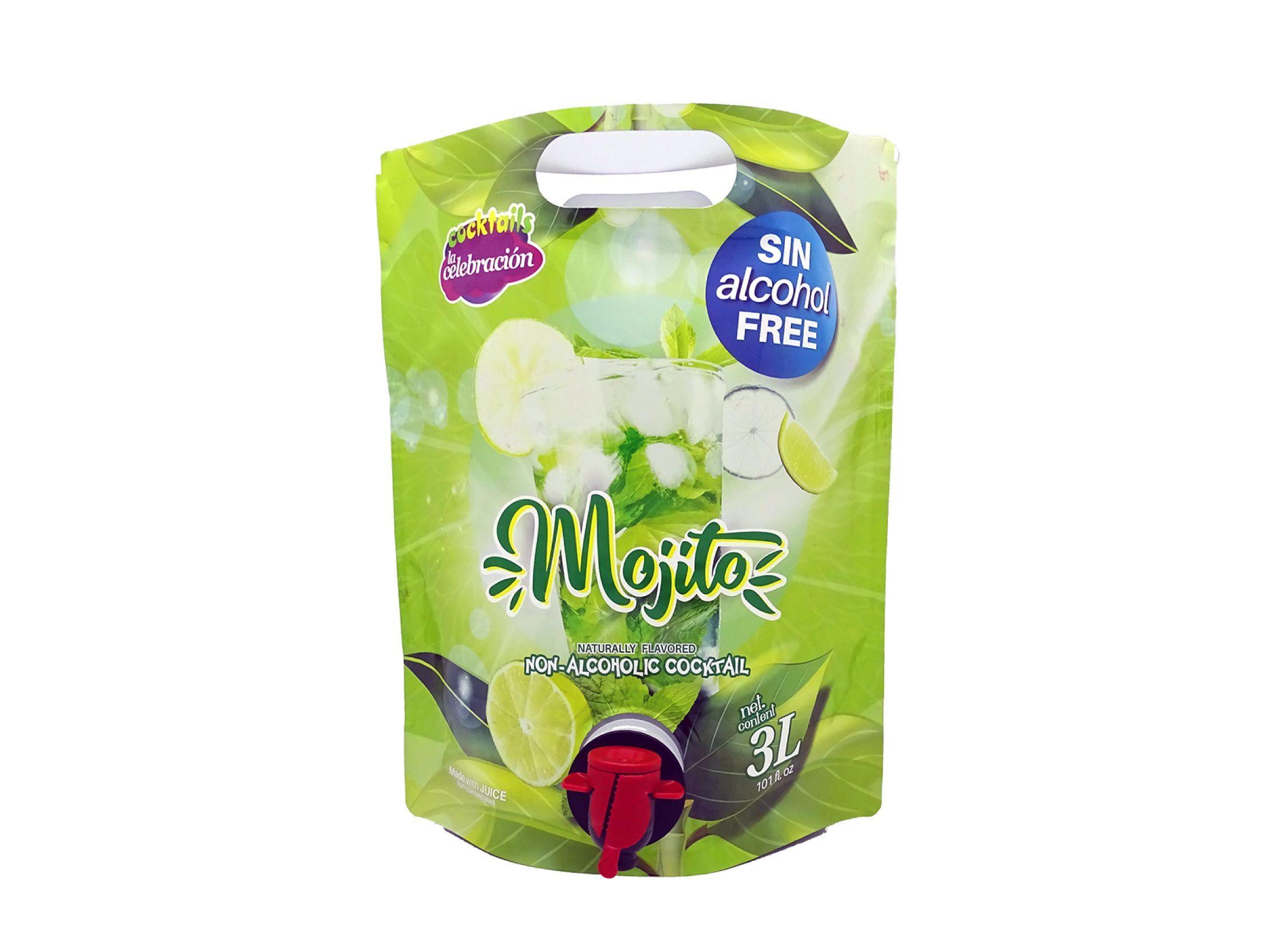 bebida de 3 litros de Mojito sin alcohol con grifo