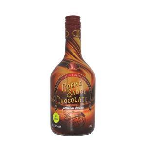 Botella de 70cl de licor de crema de chocolate, producto fabricado en Granada, apto para veganos. En stock listo para enviar.