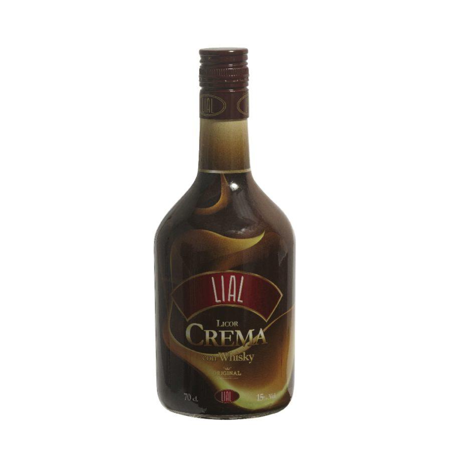 Crema de Whisky LIAL en botella de 0,70 litros con 15 grados de alcohol. Presentado en elegante formato.