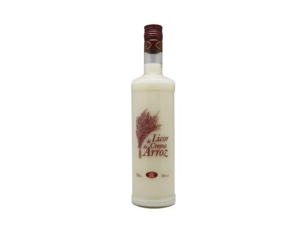 Botella de 70cl de licor de crema de arroz marca LIAL, producto fabricado en Granada, España. En stock listo para envío.