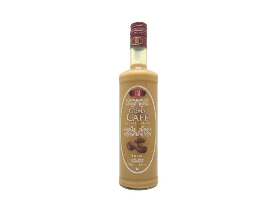 Botella de 70cl de licor Crema de Café Licor marca LIAL, producto andaluz fabricado en Granada, disponible para comprar en stock listo para envío.