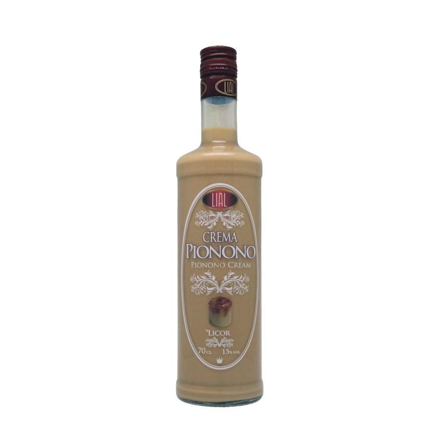 Botella de 70cl de Crema de Pionono marca LIAL, producto andaluz fabricado en Granada, disponible para comprar online en stock listo para envío.