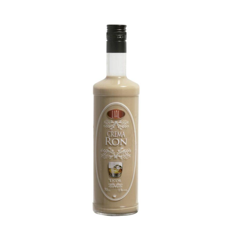 Botella de 70cl de licor de crema de ron marca lial, fabricado en Granada, España. En stock listo para enviar.