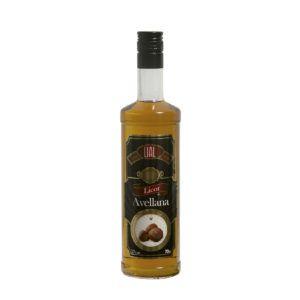 Botella de 70cl de licor de avellana marca LIAL, producto hecho en Andalucía en Stock listo para enviar.