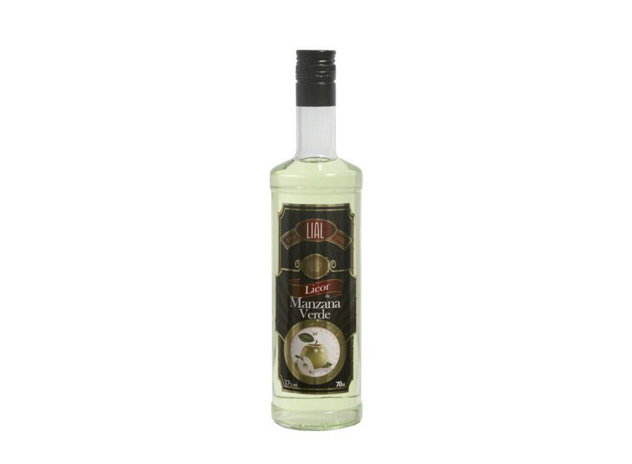 Botella de 70cl de Licor de Manzana Verde marca LIAL en stock listo para comprar. Producto Hecho en Andalucía.