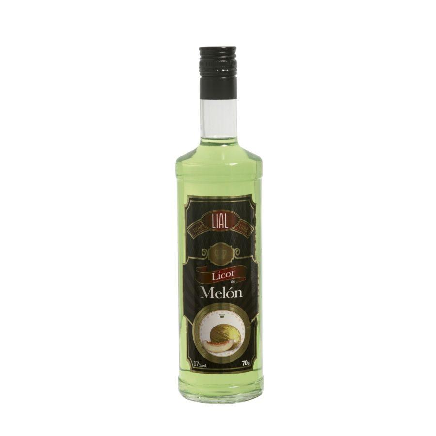Botella de 70cl de licor de melón marca LIAL