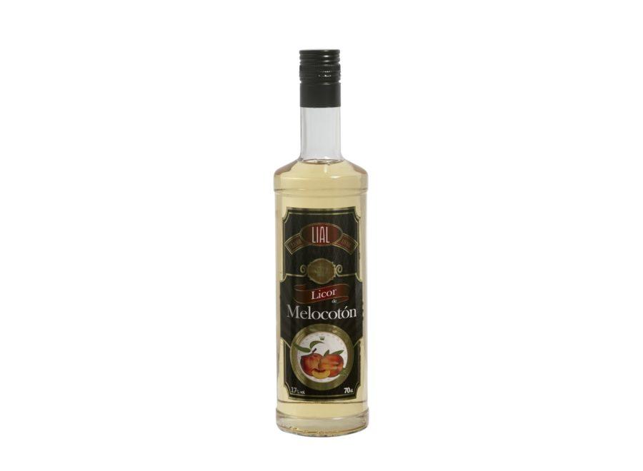 Botella de 70cl de licor de melocotón marca LIAL