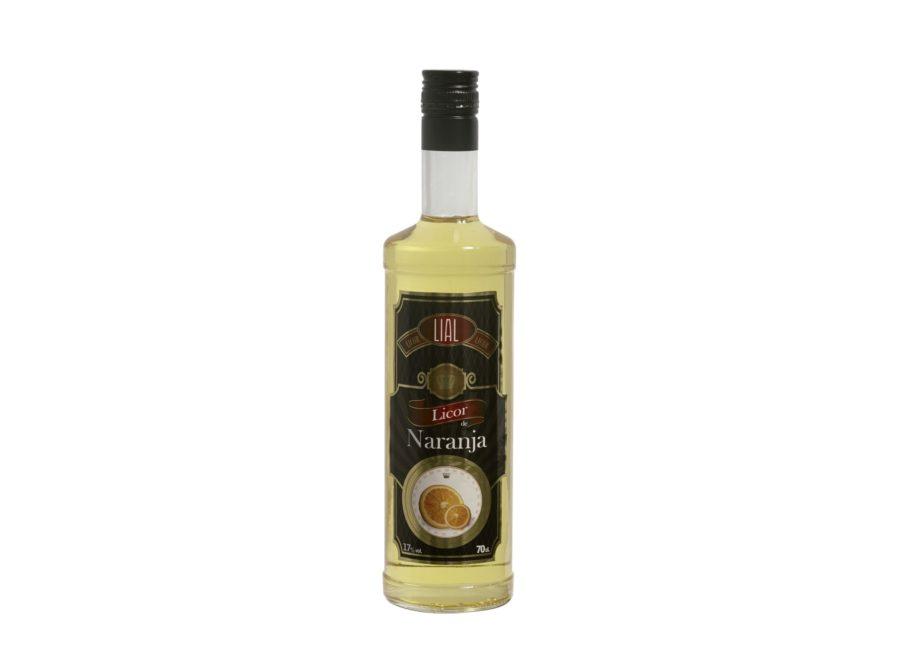 Botella de 70cl de licor de naranja marca LIAL, producto fabricado en Granada, España. En stock listo para enviar.