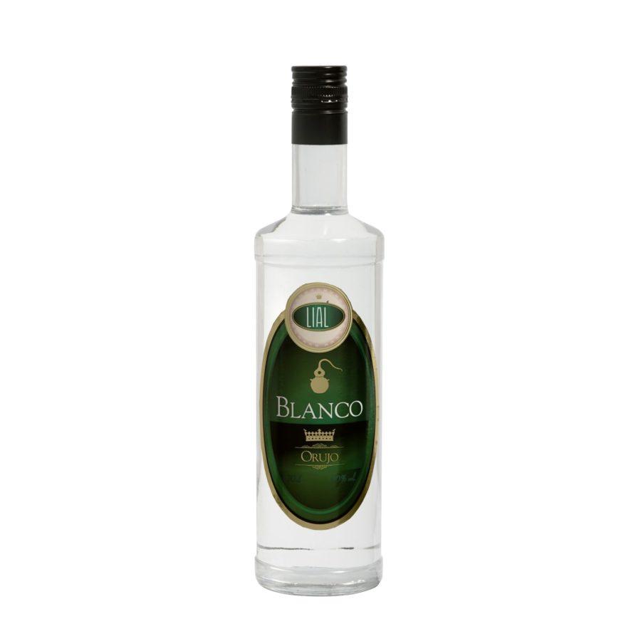 Botella de 700ml de orujo blanco marca LIAL, producto fabricado en Granada, España en stock listo para enviar.