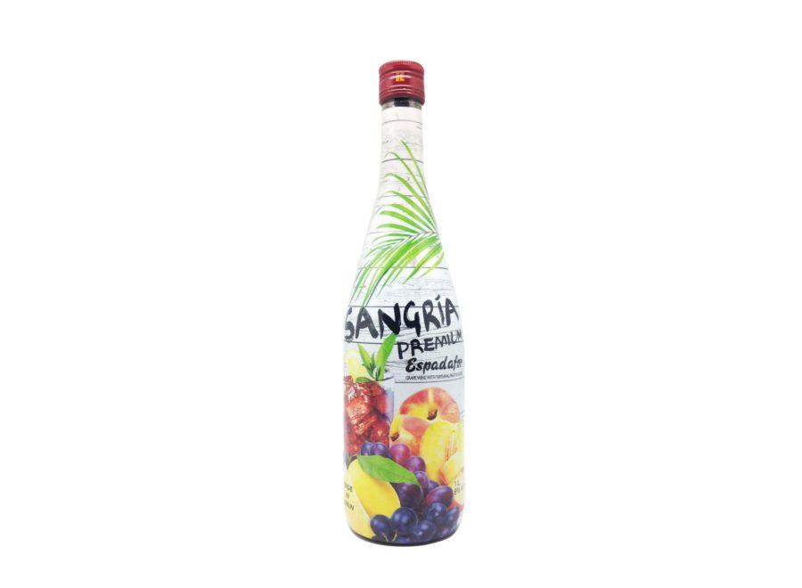 Botella de 1L de sangría premium espadafor, producto fabricado en Granada, España, en stock listo para enviar.