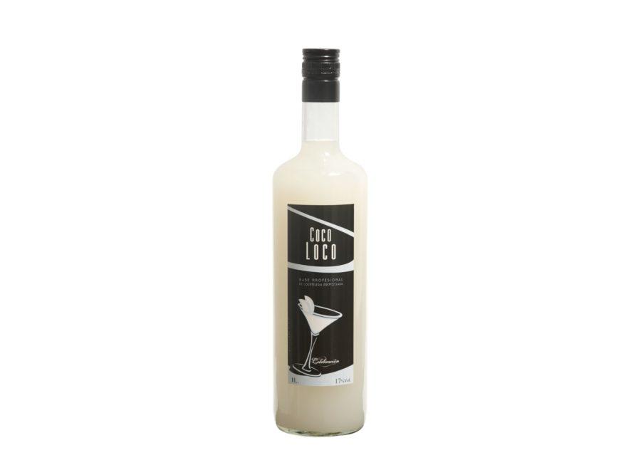 Botella de un litro de cocoloco base profesional especialmente diseñado para para coctelería.