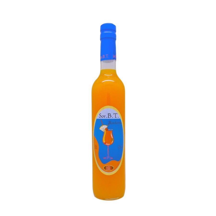 Botella de 50cl de sorbete de mandarina con 5,6% de alcohol,SOR.B.T marca LIAL. Producto hecho en Granada, España. En stock listo para enviar.