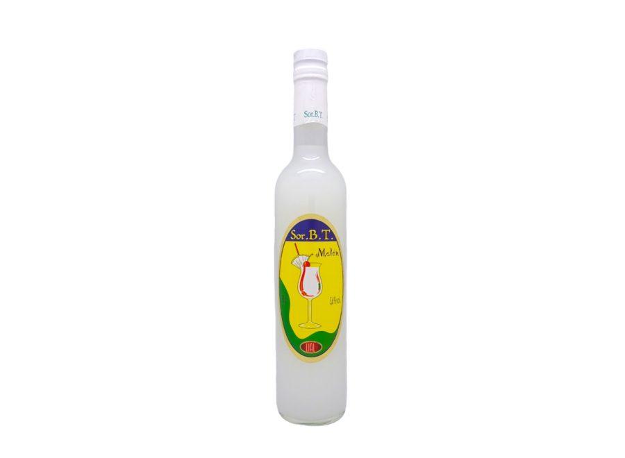 Botella de 50cl de sorbete de melón con 5,6% de alcohol, SOR.B.T marca LIAL. Fabricado en Granada, España. En stock.