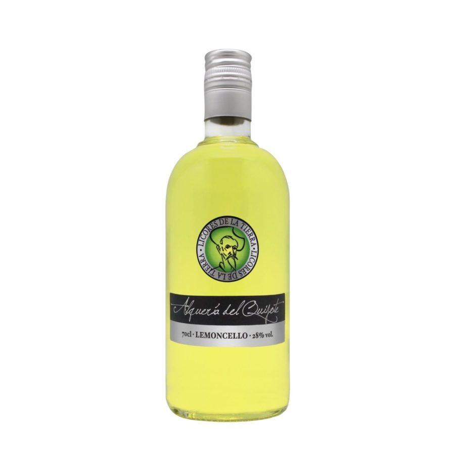 Producto a base de bebida de licor de hierbas marca alquería del quijote. Licores de la tierra.