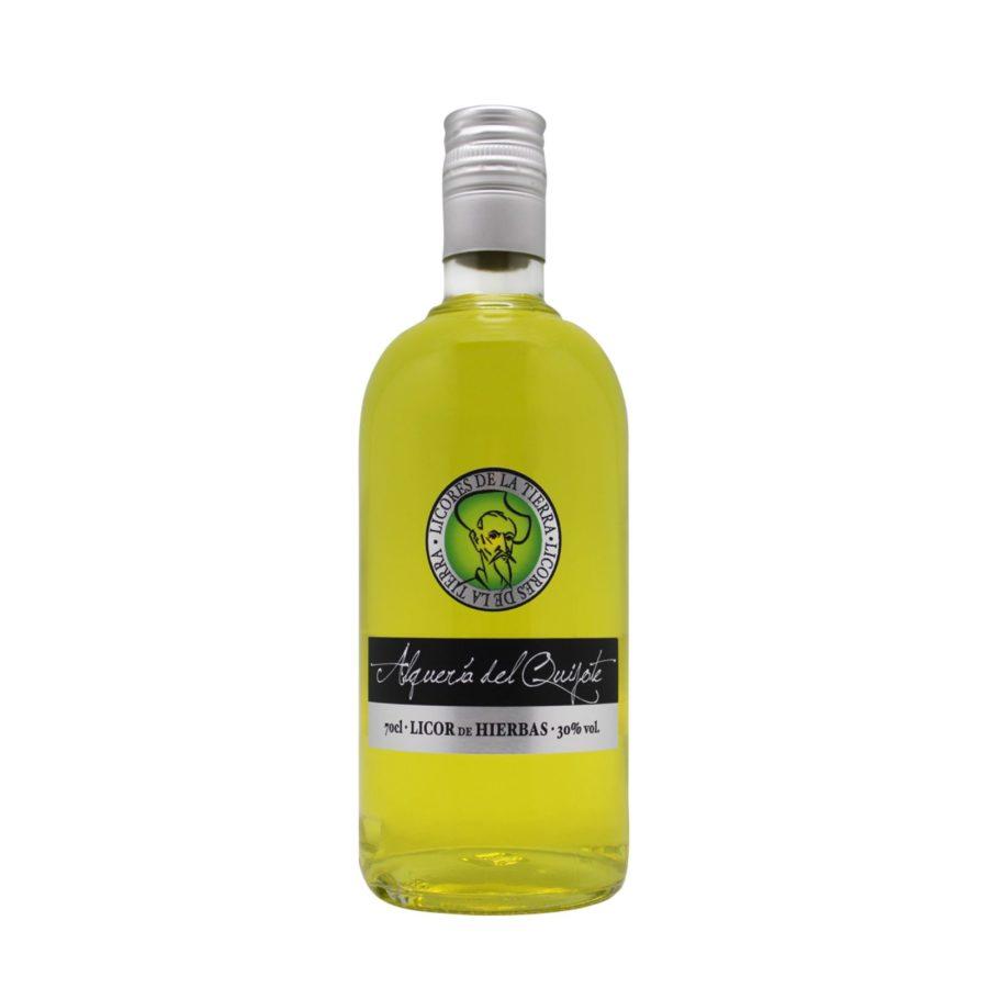 Botella de 70cl de Licor de Hierbas marca Alquería del Quijote. Licores de la tierra