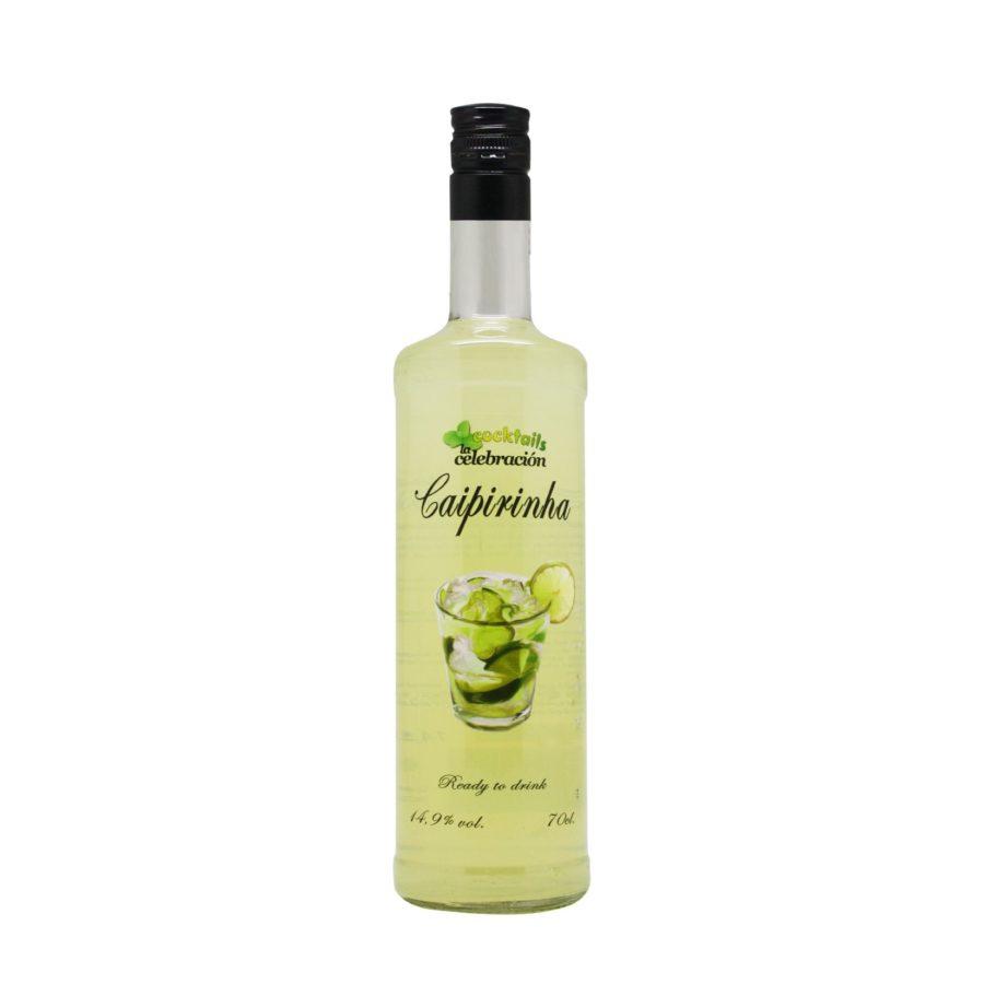 cocktail preparado de Caipirinha botella de 70cl con 14,9 grados de alcohol con los mejores ingredientes y resultado totalmente profesional. Disponible para comprar online.