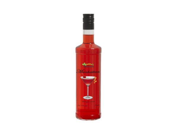 Botella de Cocktail Manhattan con 14,9% de alcohol en formato de 70cl. Producto fabricado en Granada, España. En stock, listo para enviar.