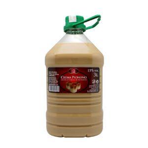 Garrafa de 3 litros de licor de crema de piononos marca lial. Producto fabricado en Granada, España, inspirado en el tradicional dulce Pionono. En Stock listo para enviar.