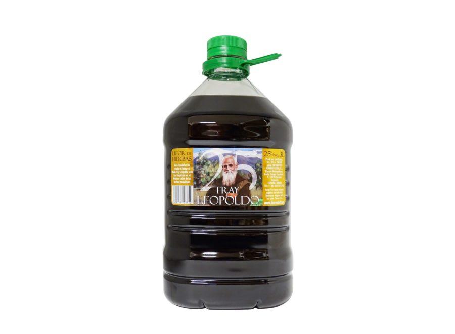 Garrafa de 3 litros de licor de Fray Leopoldo