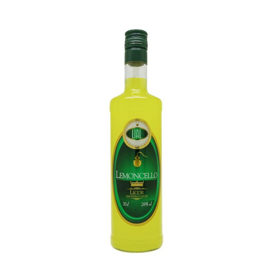 Botella de 700ml de licor de limon, lemoncello. Producto fabricado en Granada, España. Disponible para comprar online, en stock listo para enviar.