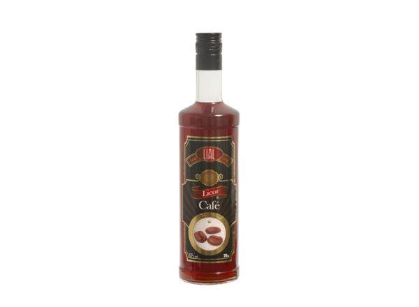 Botella de 70cl de Licor de Café marca LIAL. Producto fabricado en Granada, España. Compra online, en stock listo para enviar.