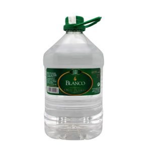 Garrafa de 3 litros de Orujo Blanco marca LIAL, fabricado en Granada, España. En Stock listo para envío.