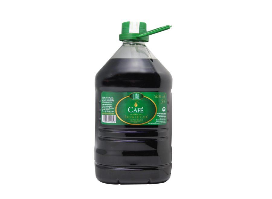 garrafa de 3 litros de orujo de café