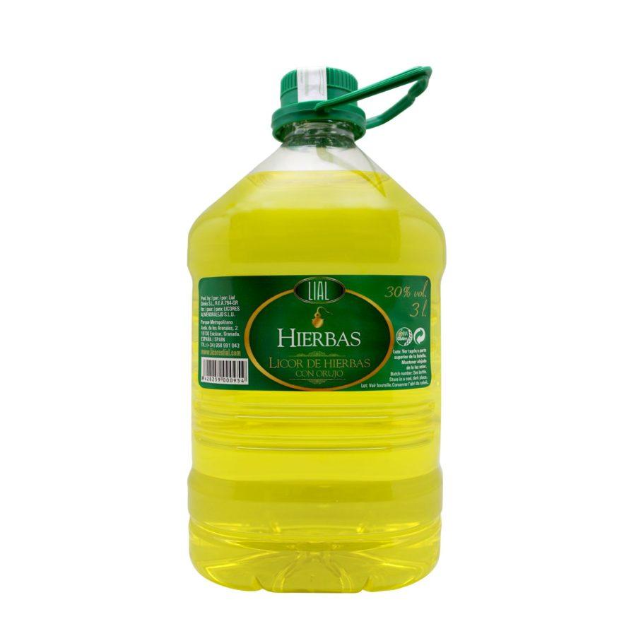 garrafa de orujo de hierbas