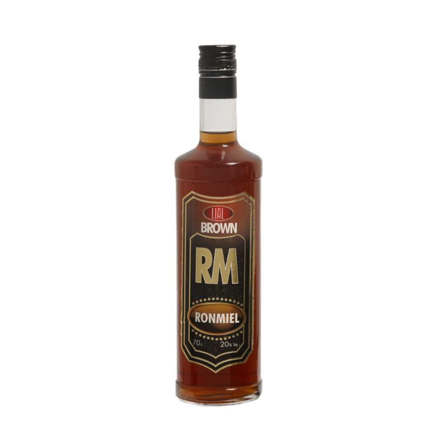 Botella de 70cl de licor de RonMiel LIAL. Producto fabricado en Granada, España. En Stock listo para enviar.