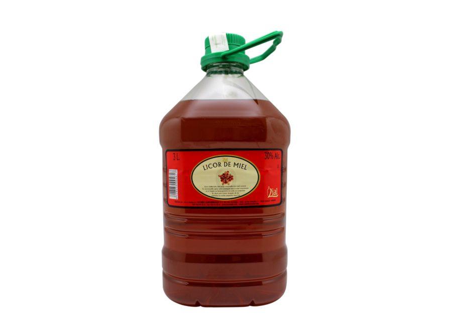 garrafa de 3 litros de licor de miel